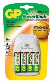GP Power Bank Nite-Lite + 4x AA 2700 mAh