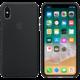 Apple silikonový kryt na iPhone X, černá  + Voucher až na 3 měsíce HBO GO jako dárek (max 1 ks na objednávku)