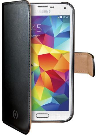 CELLY Wally pro Samsung Galaxy S5 mini, PU kůže, černá