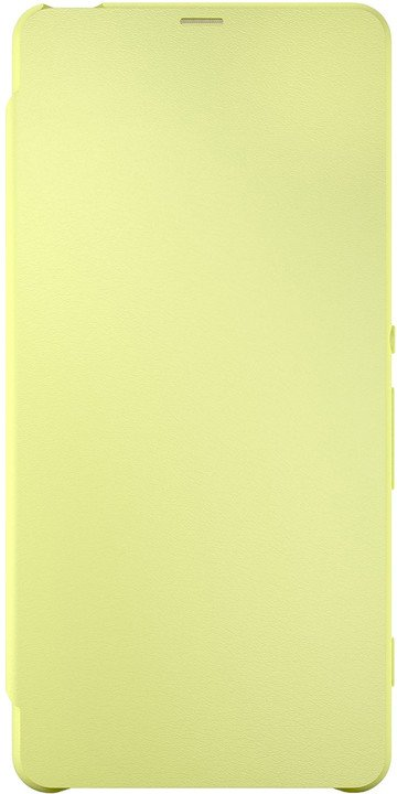 Sony SCR54 Style Cover Flip Xperia XA, limetková/zlatá