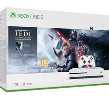 Xbox One S, 1TB, bílá + Star Wars Jedi: Fallen Order - 234-01098 + Vzorek Godlike, 10g v hodnotě 50 Kč