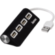 Hama USB 2.0 Hub 1:4, napájení USB, černá