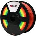 C-TECH tisková struna (filament), PLA, 1,75mm, 1kg, duha