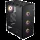 Fortron CMT340 PLUS, okno, černá