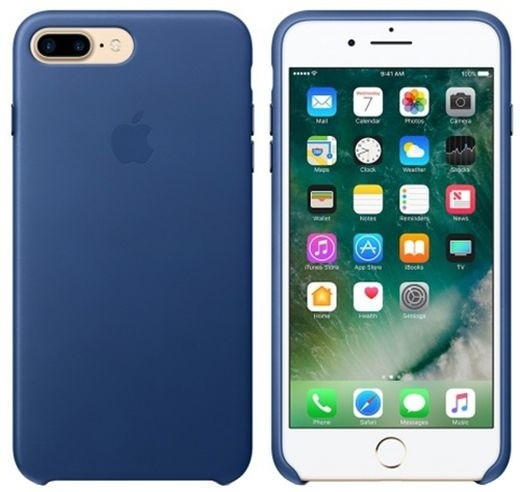 Apple iPhone 7 Plus Leather Case, Sapphire
