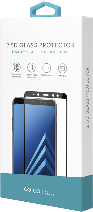 EPICO tvrzené sklo pro Huawei P Smart 2021, 2.5D, černá