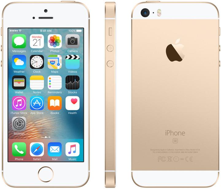 Apple iPhone SE 32GB, zlatá