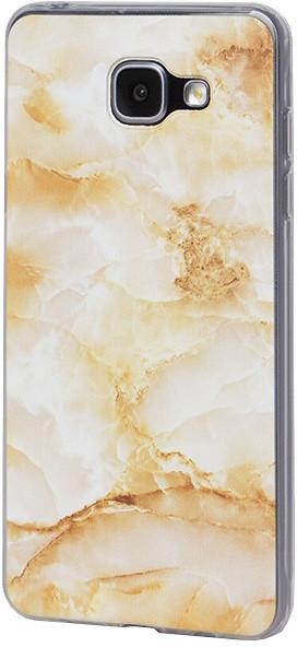 EPICO pružný plastový kryt pro Samsung Galaxy A5 (2016) MARBLE - gold