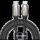 BASEUS kabel Horizontal, USB-C - Lightning, nabíjecí, datový, PD 18W, 2m, černá