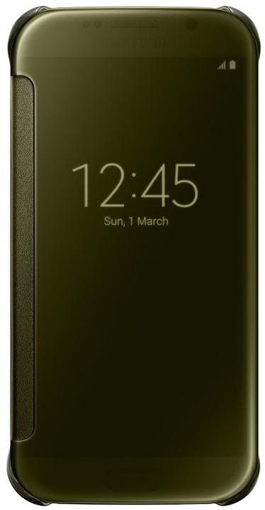 Samsung Clear View EF-ZG920B pouzdro pro Galaxy S6 (G920), zlatá