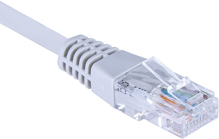 Masterlan COMFORT patch kabel UTP, Cat6, 3m, šedá