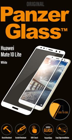 PanzerGlass Edge-to-Edge pro Huawei Mate 10 Lite, bílé