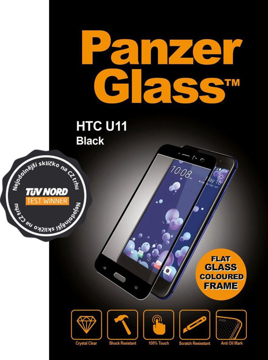 PanzerGlass Edge-to-Edge pro HTC U11, černé