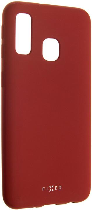 FIXED zadní pogumovaný kryt Story pro Samsung Galaxy A40, červená