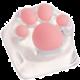 ZOMOPLUS Kitty Paw, MX stem, průhledná/růžová