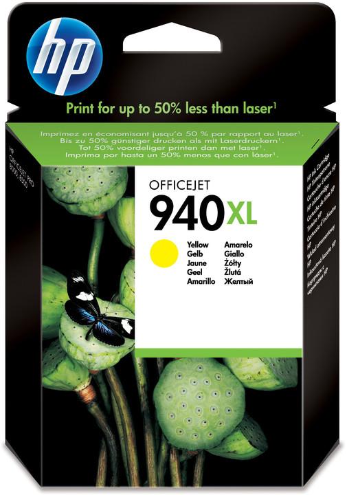 HP C4909AE, č. 940XL, žlutá – ušetřete až 50 % oproti standardní náplni