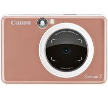Canon Zoemini S, růžovozlatá  + Canon ZINK PAPER ZP-2030 20 ks v hodnotě 349 Kč + 100Kč slevový kód na LEGO (kombinovatelný, max. 1ks/objednávku)