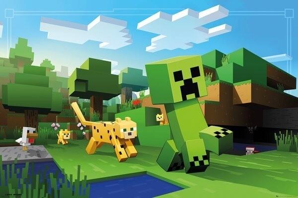 Plakát Minecraft - Ocelot Chase