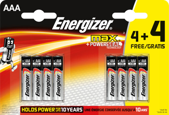 Energizer baterie LR03/8 MAX AAA/8, 8ks