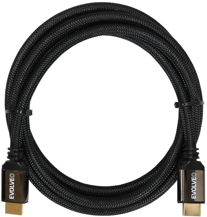 EVOLVEO XXtremeCord, kabel HDMI 2.1, podpora 8K ULTRA HD, 4K, 2K a FHD, 48Gbps šířka pásma, 1m