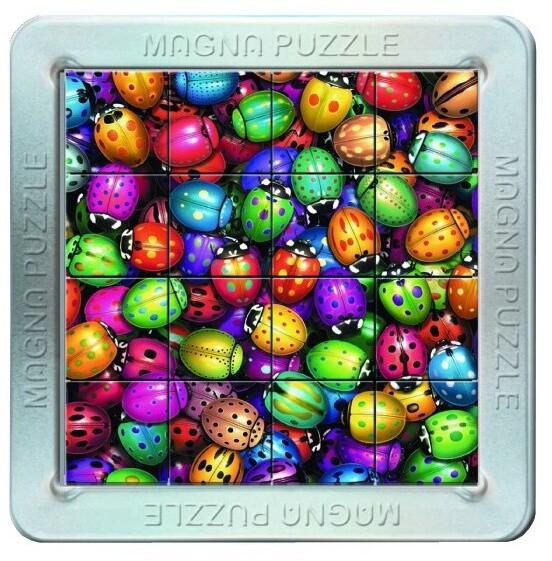 Puzzle Piatnik Berušky, magnetické, 3D, 16 dílků