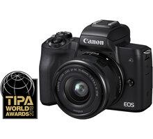 Canon EOS M50, černá + EF-M 15-45mm IS STM + SB130 + karta 16GB Získejte zpět 800 po registraci