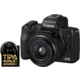 Canon EOS M50, černá + EF-M 15-45mm IS STM + SB130 + karta 16GB