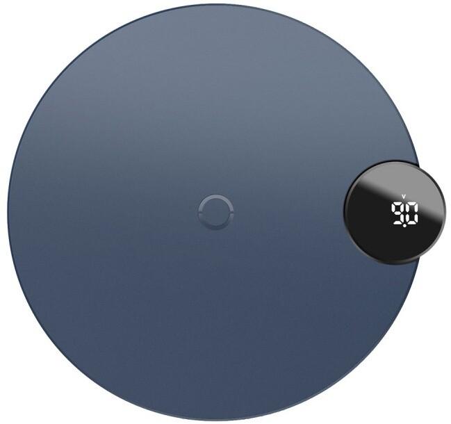 Baseus bezdrátová nabíječka Digtal LED Display, modrá