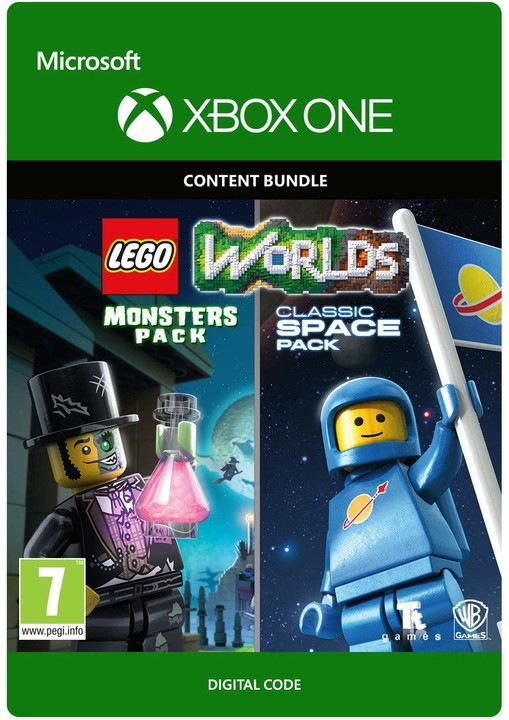 LEGO Worlds Classic Space Pack and Monsters Pack Bundle (Xbox ONE) - elektronicky