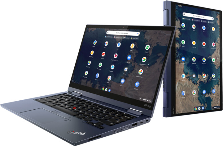 Lenovo ThinkPad C13 Yoga Gen 1 Chromebook, modrá