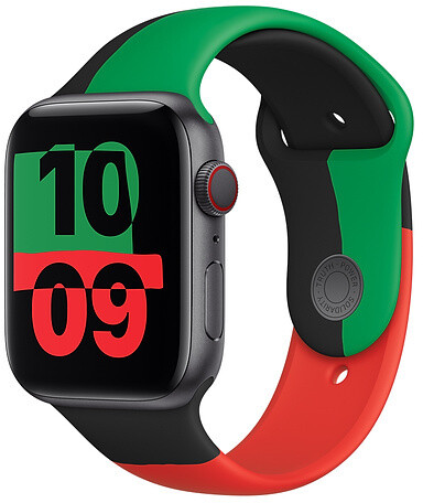 Apple řemínek pro Watch Series, sportovní, 44mm, Black Unity SB-Reg
