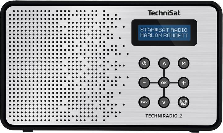 TechniSat TechniRadio 2, černá/stříbrná