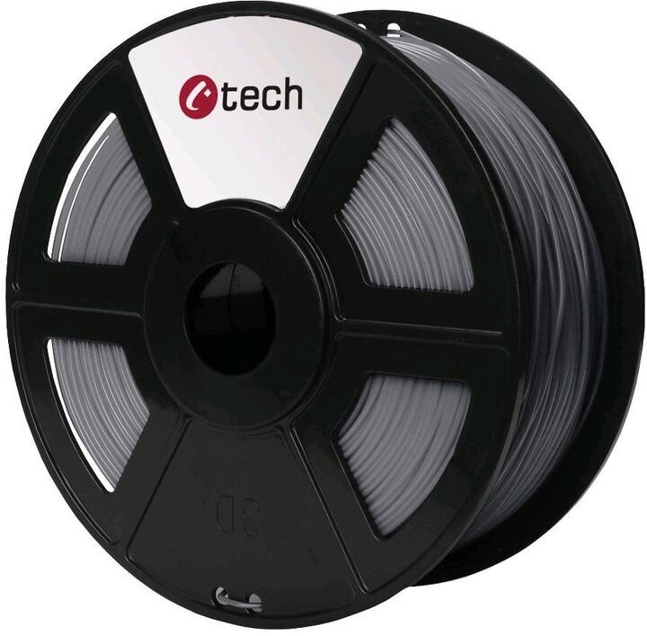 C-TECH tisková struna (filament), PLA, 1,75mm, 1kg, stříbrná