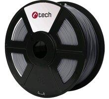 C-TECH tisková struna (filament), PLA, 1,75mm, 1kg, stříbrná - 3DF-PLA1.75-S