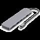 FIXED USB-C hliníkový hub 7v1, PD, 2x USB 3.0, HDMI, USB-C, čtečka SD karet, šedá