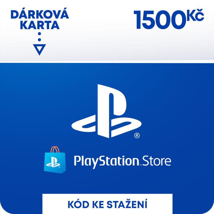 PlayStation Store naplnění peněženky 1 500 Kč - elektronicky