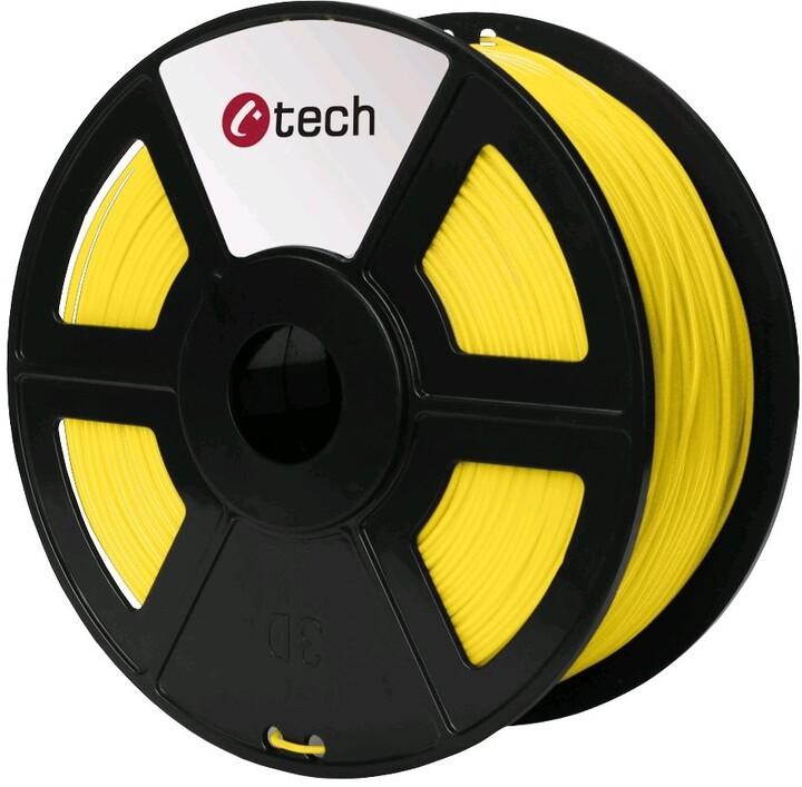 C-TECH tisková struna (filament), PETG, 1,75mm, 1kg, žlutá