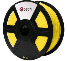 C-TECH tisková struna (filament), PETG, 1,75mm, 1kg, žlutá - 3DF-PETG1.75-Y