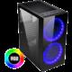 Evolveo Ptero Q20, 2x200mm RGB, sklo, černá