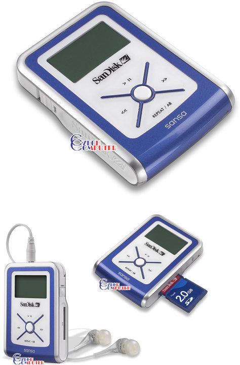 SanDisk Sansa e130 512 MB, FM, SD slot