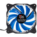 iTek Cosmo Flow - 120mm, Blue LED, 3+4pin, Silent