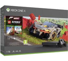 Xbox One X, 1TB, černá + Forza Horizon 4 + LEGO Speed Champions DLC - CYV-00468 + Vzorek Godlike, 10g v hodnotě 50 Kč