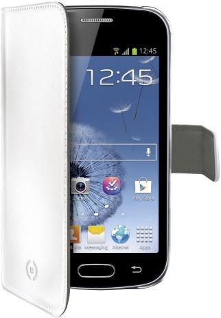 CELLY Wally pro Samsung Galaxy Trend, PU kůže, bílá