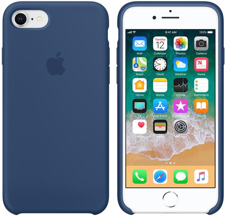 Apple silikonový kryt na iPhone 8/7, kobaltově modrá
