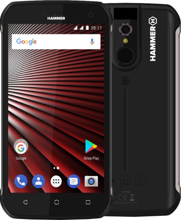 myPhone HAMMER BLADE, 3GB/32GB, stříbrná
