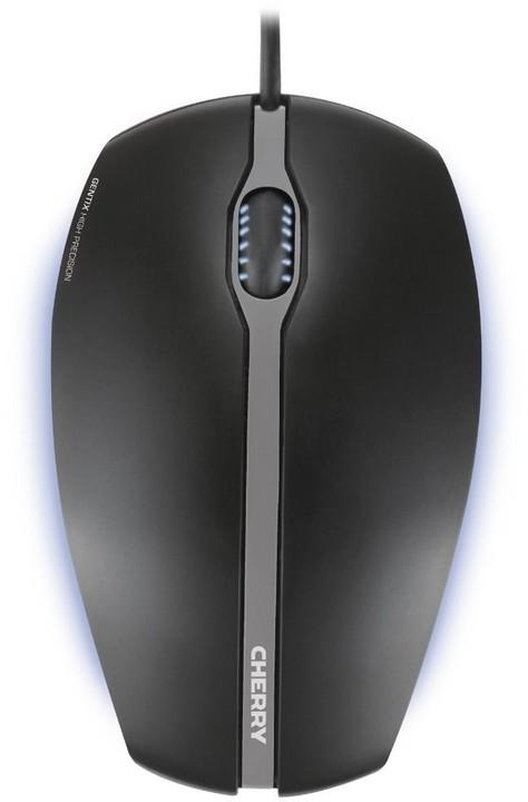 Cherry Gentix, USB, černá s modrým podsvícením