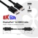 Club3D DisplayPort 1.4 na DisplayPort 1.4 , podpora 8K/60Hz, 4m