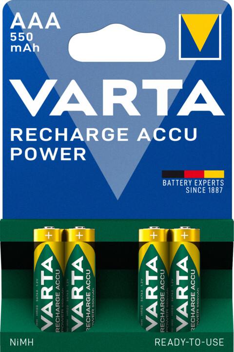VARTA nabíjecí baterie Power AAA 550 mAh, 4ks