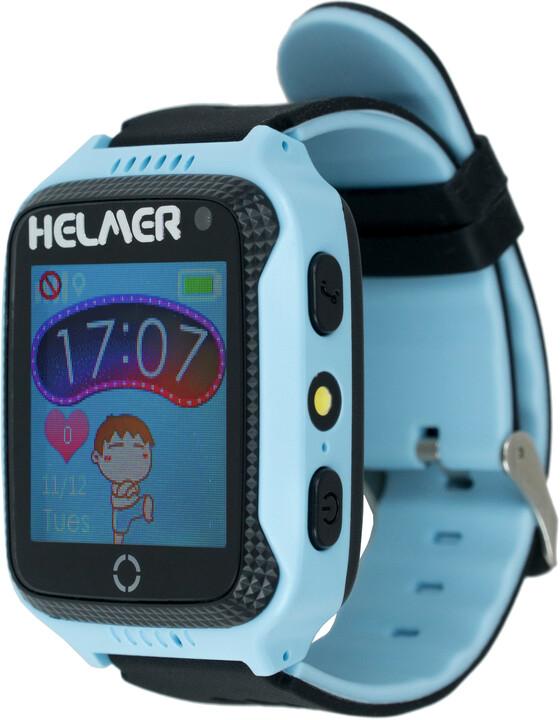 Helmer LK 707 dětské hodinky s GPS lokátorem s možností volání, fotoaparátem, modré