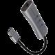 AXAGON HMA-GL3AP, USB 3.2 Gen 1 hub, porty 3x USB-A + Gigabit Ethernet, kovový, micro USB nap. konek